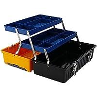 Cassetta degli attrezzi Caja de herramientas Mantenimiento multifunción Hogar portátil Caja de almacenamiento grande Hardware Caja de tres capas Electricista Plegado plástico