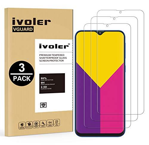VGUARD [Paquete 3] Película de vidrio templado para Samsung Galaxy M30 / A50 / A30 [Garantía de por vida], película protectora de pantalla para Samsung Galaxy M30 / A50 / A30