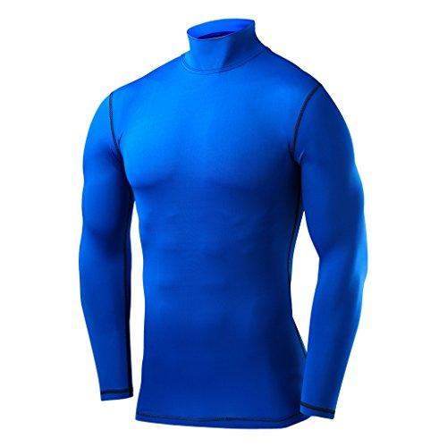 PowerLayer Herren Kind Funktionsunterwäsche Kompressionsshirt Armour Compression Top Skins Langarm - Medium - Blue
