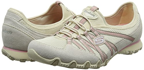 Skechers Bikers - Hot-ticket, Damen Ausbilder, Beige (Natural/taupe), 39.5 EU - 5