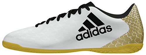 16 Calcio Metallico X Adidas Interno Scarpe Oro In 4 Bianco Uomo Bianco Da Nero ftwr qwAfY