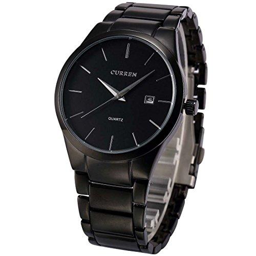 Men's watch - CURREN Men's watch, stainless steel, quartz analog, Black