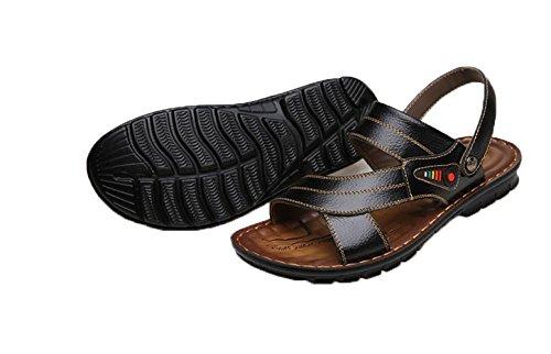 Herren Sommer Sandalen Schwarz Ein Bißchen Atmungsaktive Früling Fashion Outdoor Casual 57TxBxqwOE