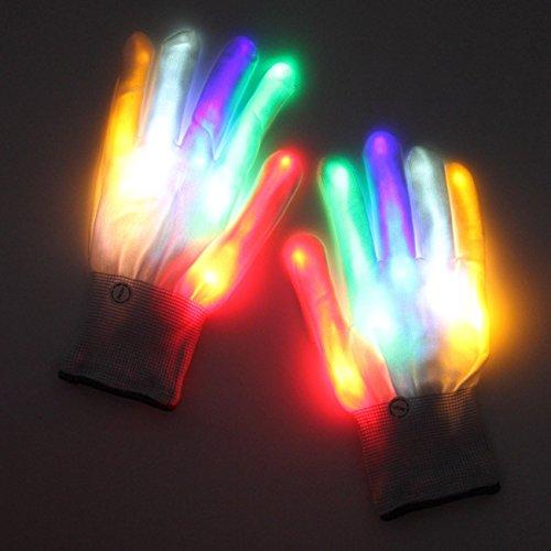 THEE LED Guantes Iluminación Multicolores Halloween