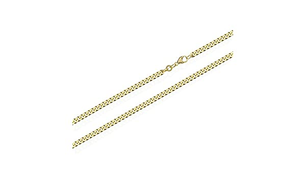 Nklaus 5807 9,5G 60 cm long, 2.4 mm Wide Curb Chain Necklace Solid 333 Yellow Gold