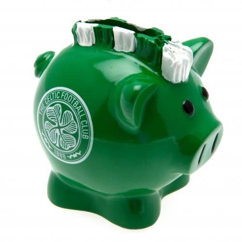 Celtic FC Official Football Gift Mohawk Piggy Bank - A Great Christmas   Birthday Gift Idea For Men And Boys