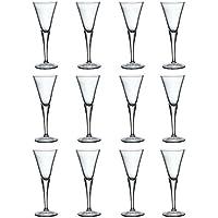 Bormioli Rocco Fiore Claro Tallo Sherry Glasses - 55 ml - Envase de 12