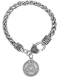 VASSAGO ronde Médaillon Pentacle du soleil la clé de Salomon Pendentif Talisman blé Bracelet chaîne