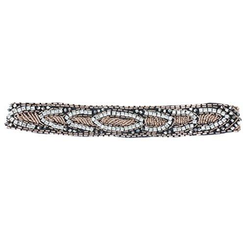 Bandeau Strass Boho Ethinc Perles Hippie Elastic Band Hair