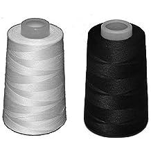 2 conos de hilo de poliester, especiales para máquinas de coser y remalladoras (1