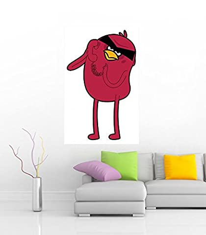 "Jake The Red Bird 36"" Wide"