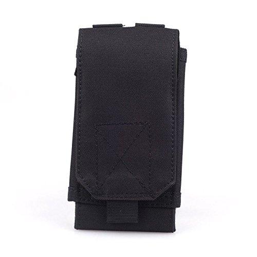 New Durable Universal-Nylon Schwarz Im Freien Wandern Jagd-Sport Militär-Abdeckungs-Beutel-Beutel-Kasten Holster für Mobil Telefon ()