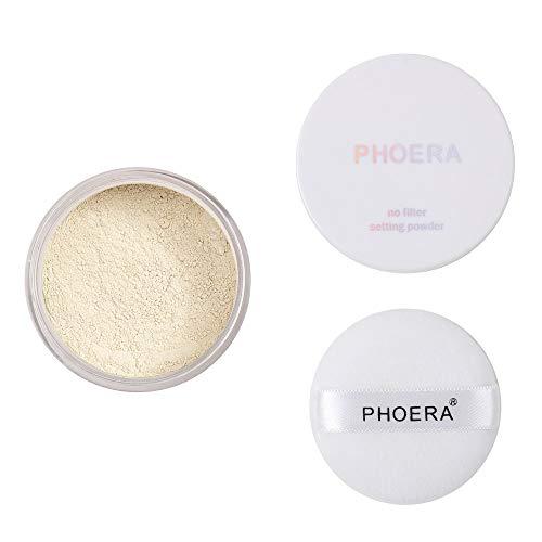 Xshuai® PHOERA Mat Oil Control Light Makeup Powder Loose Face Powder Translucide Smooth Setting Foundation Correcteur Maquillage Cosmétique, 01#, Package Size: 2.5X5.5G