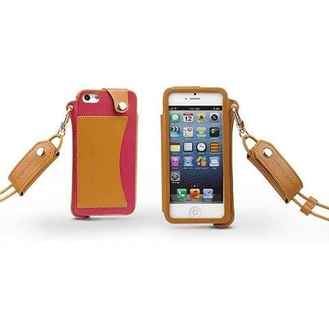 Moda de alto grado de la PU de cuero protector de la cubierta del caso para el iPhone 5.