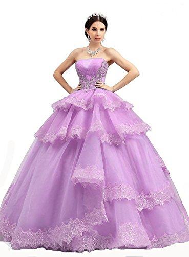Ikerenwedding - Robe - ball gown - Sans Manche - Femme Small Rose