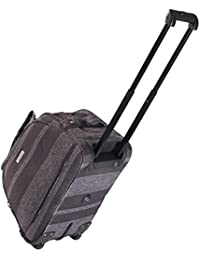 Highbury Mallorca Wheel Aboard Carry On Trolley Case, Hand Luggage will fit Ryanair (grey stripe)