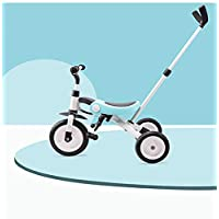 SHARESUN 3 In 1 Kids Tricycle for Boys&Girls,Toddler Tricycles Balance Bike Folding Child Trike with Parents Handlebar for 1-6 Years Old Children Walking 3 Wheeler Bicycle,Blue