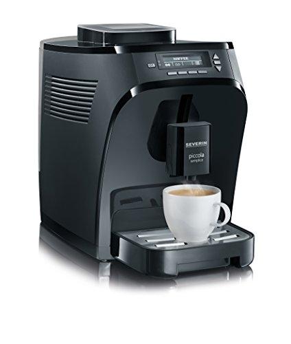 Severin 8080-000 Piccola semplice Kaffeevollautomat, schwarz matt / glänzend
