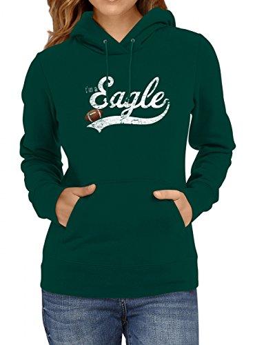 I'm a Eagle #1 Premium Hoodie Superbowl American Football Play Offs Frauen Kapuzenpullover, Farbe:Dunkelgrün;Größe:M -