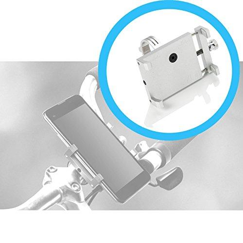 Smartphone Fahrrad-Halterung Alu Bike Holder 360° drehbar für Xiaomi Mi7 Dipper - aus Aluminium - SILBER
