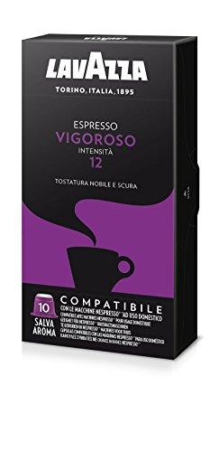 Lavazza Capsule Compatibili Nespresso Espresso Vigoroso - 10 confezioni da 10 capsule [100 capsule]