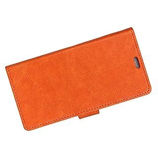 Pure Color pu Leder Telefon case weiche Elegante stoßfestes Telefon case Shell Flip Brieftasche Abdeckung für Samsung Galaxy a6 (orange)