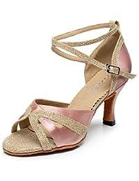 Mysterious Direct Direct-Schuhe Damen Latein Tanzschuhe mit/Sparkling Glitter/Schaukel Sandalen Schuhe