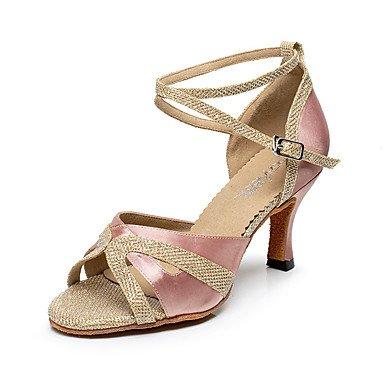 Moda inferiore morbida pelle tracolla trasversale in metallo personalizzabili buckleNon donna scarpe da ballo Pelle latino /moderno Sneakers Chunky Heel pratica Nero