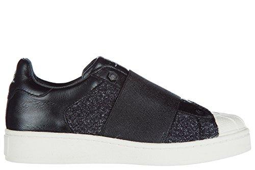 MOA Master of Arts Slip on Femme en Cuir Sneakers Noir
