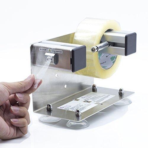 LDS Industrie 5,1cm/7,6cm Desktop Tabelle Top/Wand montiert Tape und Label Spender, groß Desktop Tischabroller, Edelstahl Rahmen mit sucktion Tasse Sucker ttd-01