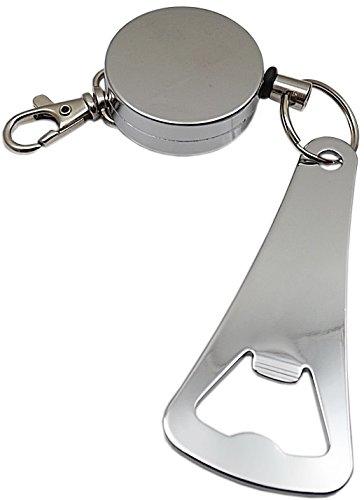 Praktischer Rollmatik mit Flaschenöffner aus Metall in Silber