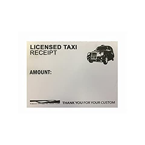 Licensed Taxi Driver Receipt Book/Pad - For London Black Cab Drivers (1 Pad)