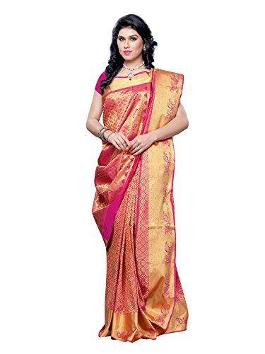 Mimosa Kanchipuram Art Silk Saree Pink(3056-KRT-TANAPINK)