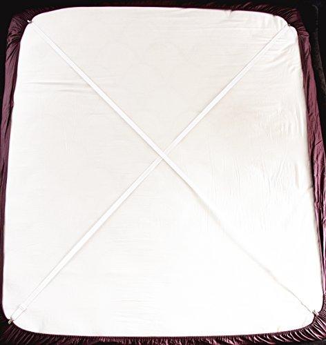 Bretelle Regolabili Per Lenzuola Con Ganci, Confezione Da 2, Colore: Bianco