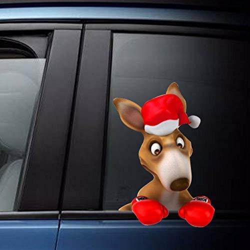 libelyef Weihnachten Heckscheibenaufkleber Fahrzeug Hund Winken Wischerblatt Tag Reflektierende wasserdichte Aufkleber Heckscheibenwischer Aufkleber Für Festliche Auto Aufkleber Dekoration