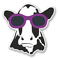 2 x 30cm/300mm Cool Cow Vinyl Sticker Decal Laptop Travel Luggage Car iPad Sign Fun #6568