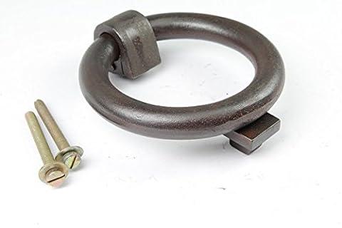 Türklopfer Ring aus massivem Eisen antik patiniert   Professionelle Reproduktion nach historischem Vorbild