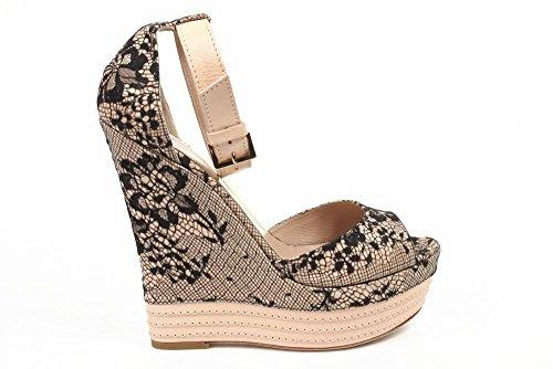 sandalo donna Sebastian Milano espadrille wedge sandal s6109 pizzo su raso pizzo su raso -- 40 eur - 10 us