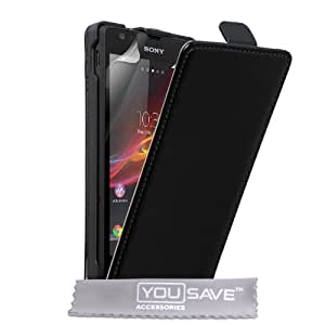 Sony Xperia SP, Flip-Case Leder schwarz