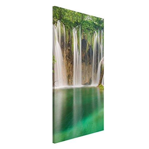 Bilderwelten Tableau magnétique - Waterfall Plitvice Lakes - Portrait Format 4:3, Plaque magnétique tableau magnétique peinture mural décoration magnétique tableau liège tableau aimanté cuisine bureau, Dimension: 40cm x 30cm