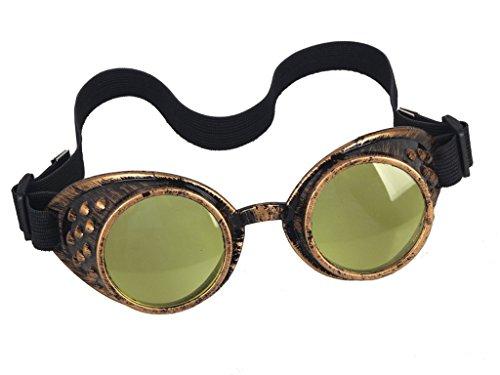 DODOING Damen Herren Brillen Weinlese-Art Steampunk Goggles Wedding Punk Vintage Brille Cosplay