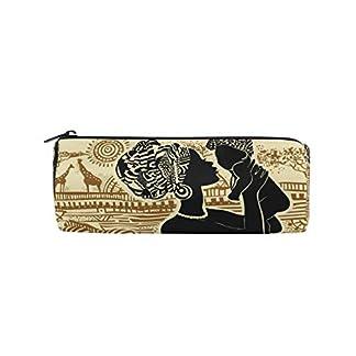 Linomo – Estuche étnico para lápices, diseño de mujer africana