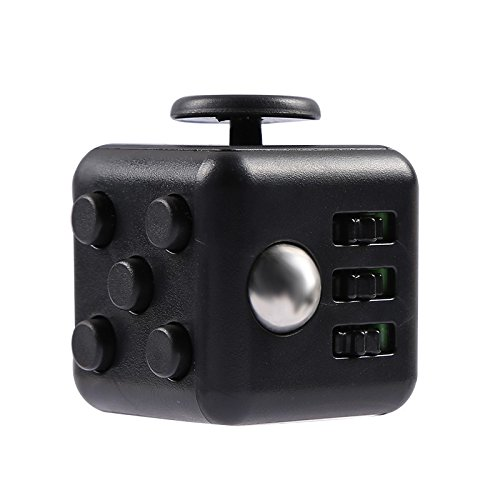 ToyZHQ Fidget Cube Toy Relieves Stress Anxiety ADHD for Adults and Children 3X3X3cm size (Black) ...