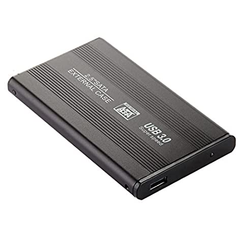 External Hard Drive Disk Enclosure Usb 3.0 Sata Hdd Black