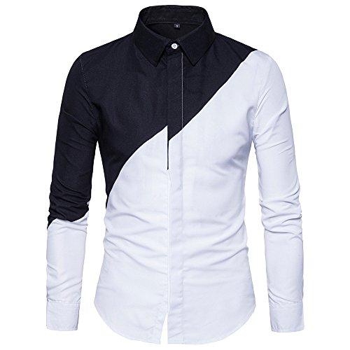 Camisa manga larga para hombre moda fashion 2018,Sonnena ❤️ Camisa informal formal de manga larga para hombre con botones Slim Fit Camisetas Blusa superior