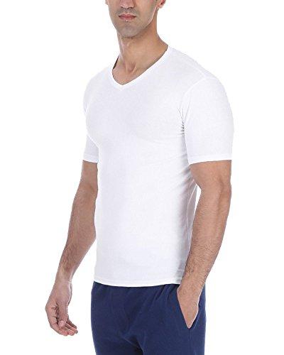 Solo® Herren Business Unterhemden. Kurzarm T-Shirts. Elastische Baumwolle, V-Ausschnitt. Farben und Größen- Hochklassige Material- Sehr Weich. sportliche Freizeit Outfit Weiß