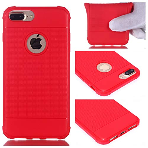 BONROY iPhone 8 Plus/iPhone 7 Plus(5,5 Zoll) Hülle - Handyhülle für iPhone 8 Plus/iPhone 7 Plus(5,5 Zoll) - Handy Case in (YY Anti-Fallwürfel TPU-rot)