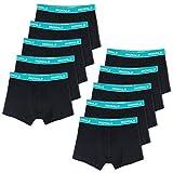 ROYALZ Unterhosen Herren Boxershorts Men 10er Pack klassisch für Sport und Freizeit, 10er Pack (95% Baumwolle / 5% Elasthan), Größe:XL, Set:10 x Schwarz/Bund - Blau