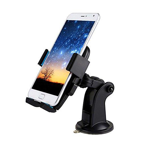 thanly KFZ Halterung Handy Halter 3in 1Universal verstellbar Armaturenbrett Windschutzscheibe Air Vent Mount Handy Ständer Cradle Unterstützung für iPhone 66S Samsung S7S6S5S4S3HTC LG