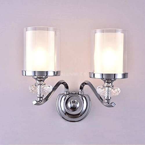 GAODUZI Moderne Minimaliste Mur Lampe Salon Salle À Manger Mur Cristal Lampe Allée Étude Mur Lampe Chambre Chevet Lampe E14 (Couleur : B)